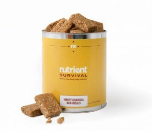 Honey Granola Bars 10 Serving #10 Can by Nutrient Survival