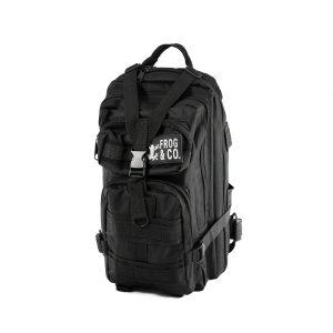 Survival Frog -Water-Resistant Tactical Black Backpack