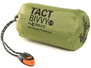 Tact Bivvy Portable Sleeping Bag and Whistle